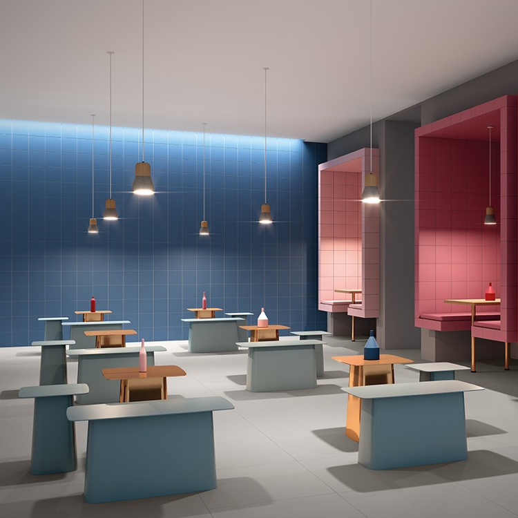 Pilt Põranda- ja seinaplaat Projectos azul M1151 20x20