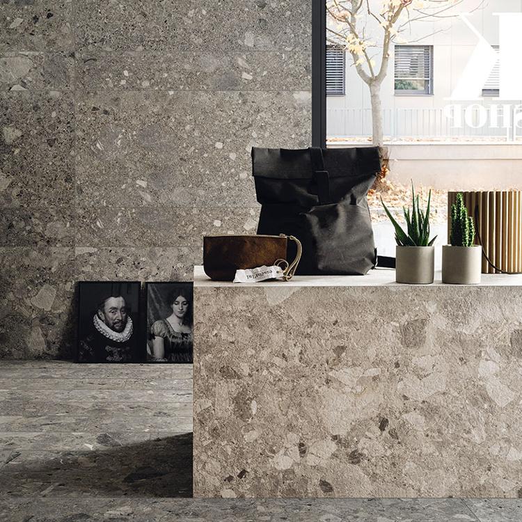 Pilt Põranda- ja seinaplaat Frammenta anthracite 60x60R LUC