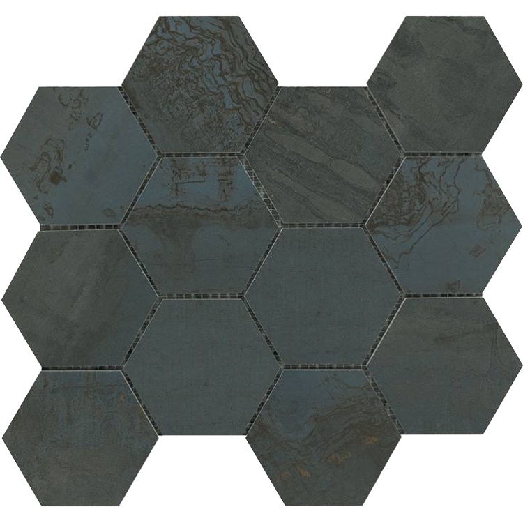 Pilt Portselanplaat Met Arch oxide mos esagono 30 x 34 cm