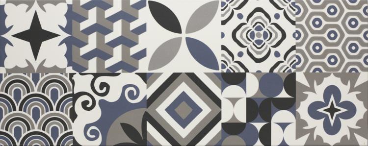 Pilt Seinaplaat Mondeo Patchwork grey 20x50