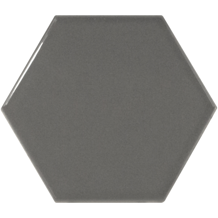 Pilt Seinaplaat Scale Hexagon dark grey 12.4x10.7