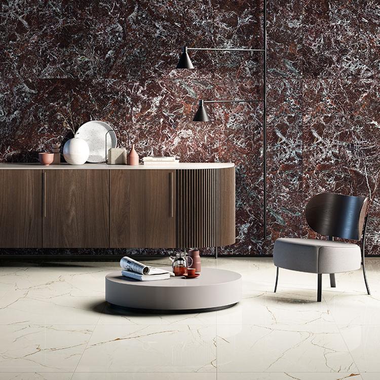 Põranda- ja seinaplaat Marmorea Intensa venato caramel + rosso levanto