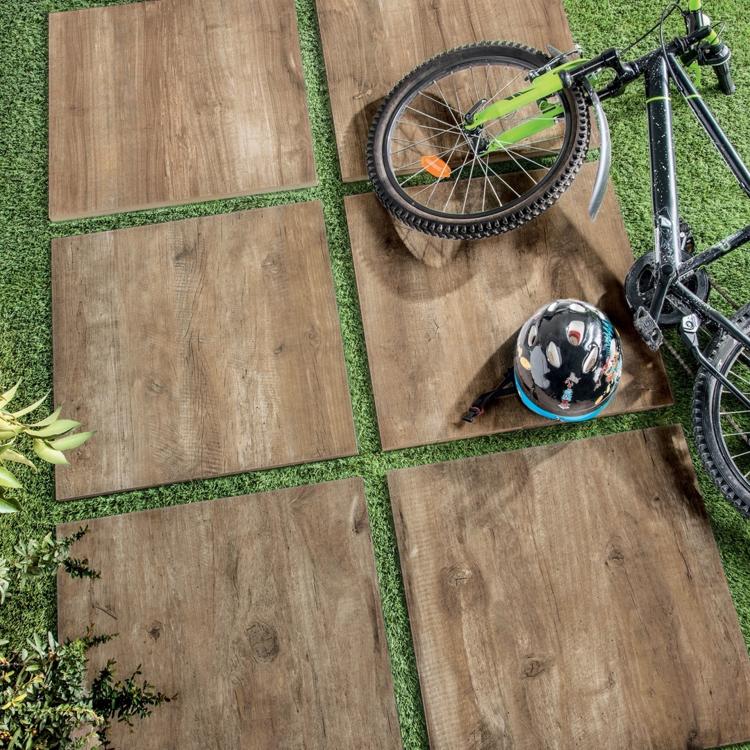 Terrassiplaat Timber noce 60x60R