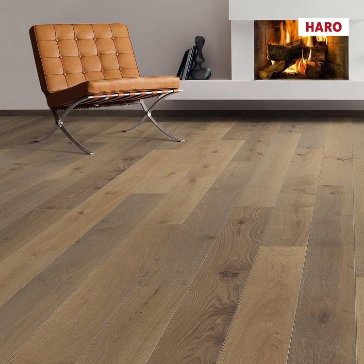 Pilt Parkett HARO 2500 Plank TAMM velvet brown Universal 2V permaDur